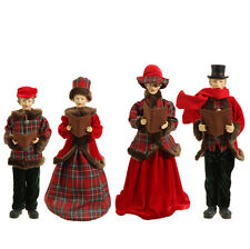 "RAZ Imports 18"" Carolers Set/4 Vintage Victorian Beautiful Christmas NEW!"