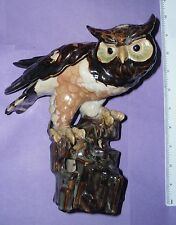 ideal gift eagle owl ornament decorative Antique vintage retro display pottery