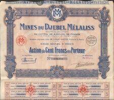 Mines du DJEBEL MELALISS (TUNISIE) (S)