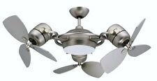 TriStar Triple Motor Ceiling Fan with 3x18-Inch Blades Light and Remote Satin...