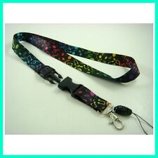 Music Note Lanyard Keychain ID card holder MP3/4 cell phone holder Neck strap
