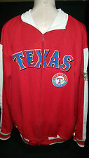 TEXAS RANGERS MLB 2011 World Series Jacket Coat Jogging Sweatshirt Sz Large Red
