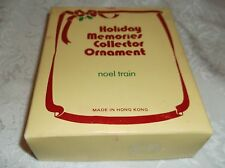 Holiday Memories Collector Ornament 'Noel Train' Candle Holders & Candles