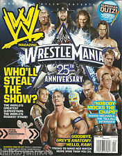 WWE Wrestling Magazine April 2009 Wrestlemania 25 John Cena Jeff Hardy CM Punk