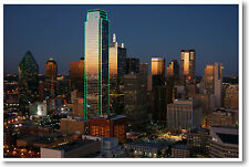 Dallas Texas Skyline at Dusk - US Cities Travel - NEW POSTER
