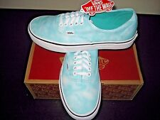 Vans Womens Authentic Tie Dye Turquoise White Canvas Shoes Size 8.5 VN0003B9IWE