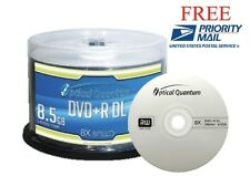 50-Pack Optical Quantum Logo Top DVD+R DL Dual Double Layer Disc 8.5GB