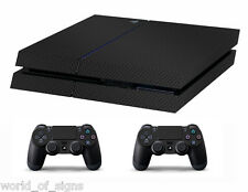 PS4 vinyl Skin Sticker carbon fibre for Console & 2 controllers
