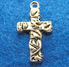 10Pcs. Tibetan Silver CROSS Charms Pendants Earring Drops Tibetan Findings CR02