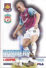 2002/03 WEST HAM UNITED V LIVERPOOL 02-02-03 Premier League (Very Good)