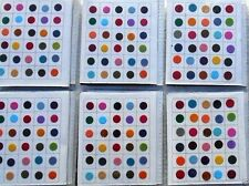 720 Piece - Multi Color Size Indian Bindi Round Dots Tattoo- 2 Different SIZE
