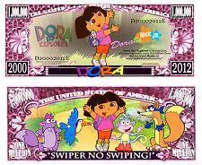 DORA L'EXPLORATRICE BILLET MILLION DOLLAR US série Dessin Animé babouche Chipeur