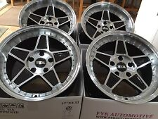 "FYK ED3 17"" 8.5j 10j Alloy Wheels 5x100 EURO DRIFT Audi VW Golf Subaru BBS"