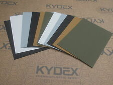 11 PIECES KYDEX T SHEET 297 X 210 X 2MM A4 SIZE assorted colour and finish