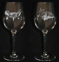 MAINE COON GIFT - Boxed PAIR WINE GLASS *CAT GIFT* 35cl
