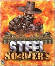 Steel Soldiers + Manual PC CD command robots to gain & hold territory tanks game
