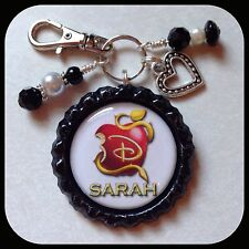 Personalized DESCENDANTS Disney Name Bottle Cap Necklace Jewelry Zipper Pull ID