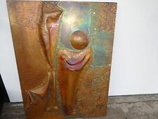 JO ROPER CONTEMPORARY ABSTRACT METAL COPPER WALL SCULPTURE