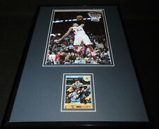 Kent Bazemore Signed Framed 11x17 Photo Display Hawks Warriors