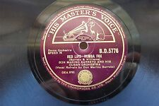 DON MARINO BARRETO 78 RPM RED LIPS / LONDON CONGA HMV BD5776