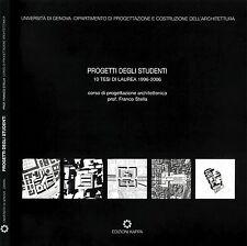Progetti Degli Studenti. 10 tesi di laurea 1996-2006. 2007. .