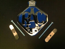 22 RAC-CAR-BADGE-BAR-BADGE-CHROME-PLATE-BLUE-BACKING