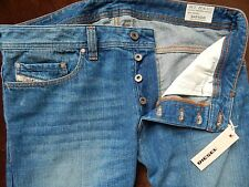 NWT Men's DIESEL INDUSTRY SAFADO BLUE ORUS2 JEANS REGULAR SLIM STRAIGHT  36x32
