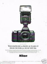 Publicité advertising 1990 Appareil Photo Nikon F-801 et flash SB 24