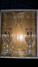 Stella Artois Gold Rimmed 33CL Chalices, Set of 2 Glasses Gift Pack Box 2016