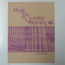 Jan Bender musica per una domenica mattina, organo punteggio, firmato edition1978
