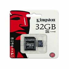 Kingston 32GB 32 Gig 32 GB Micro SD Card + SD Adapter For Phone Tablet Camera