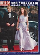 HELLO MAGAZINE ROYAL SPECIAL PRINCE WILLIAM&KATE US TOUR COMMEMORATIVE 2011 RARE