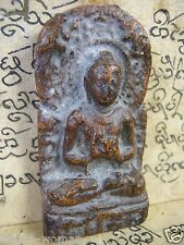 Buddhist votive tablet Buddha seated teaching the Buddhist law Dharmacakra Mudra
