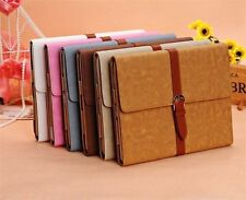 New Luxury Button Belt Stand Leather Case Smart Cover For iPad 4 4th 3/2 Display