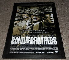 "BAND OF BROTHERS CASTX3 PP SIGNED & FRAMED 12""X8"" A4 POSTER AUTOGRAPHED N2"