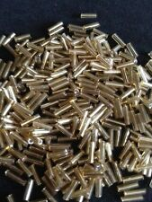 50g glass bugle beads - Gold Silver-Lined - approx 6mm tubes, craft