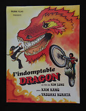 L'INDOMPTABLE DRAGON photo scenario film 1970s KUNG FU Karaté KIM LUNG