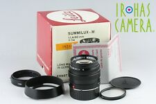 Leica Leitz Wetzlar Summilux 50mm F/1.4 Lens for M Mount With Box #10326F2