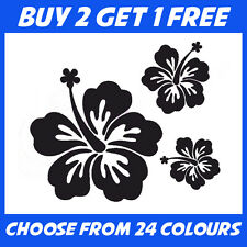 25x Hibiscus Flower Stickers ANY COLOUR Car Home Van Sticker Window Vinyl Decal