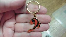 (M330-A) blue, white or red BASS CLEF MUSIC NOTE Jewelry KEYCHAIN key ring