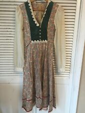 Vintage Gunne Sax By Jessica Cotton Velvet Lace Hippie Boho Dress USA Juniors 9