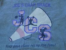 Vintage Joe's Crab Shack Keep your Claws off my Pom Poms Surf Crabs XL T-shirt