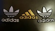 "3 ADIDAS PATCH  Logo PATCH embroidered iron on Patches  2"" x 2""  2 WHT / 1 Gold"