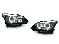 DEPO 04-10 BMW E60/E61 5 Series V3 LED U Ring Square Bottom Angel Halo Headlight