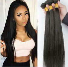 "3 Bundles 22"" Remy Brazilian Straight Human Hair Weave Extensions 150g US STOCK"