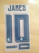 Real Madrid  JAMES 10# La Liga Football Shirt Name Set 15-2016 home