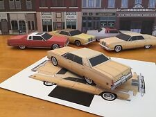 Papercraft Chrysler Imperial Beige color PaperCar EZU-Make-It 1975 Toy Model Car