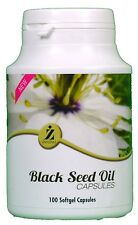 Black Seed Oil 100 Capsules ZamZam 100% Halal Natural Excellent Health Benefits