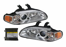 TYC Honda Civic projector front head light 2 corner Philips HID chrome 1992-1995