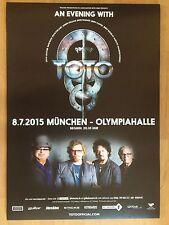 TOTO 2015 Monaco-ORIG. concert poster-manifesto concerto NUOVO